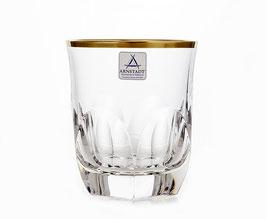 Набор хрустальных стаканов для виски ARNSTADT ПАЛАИС ЗОЛОТО 250 мл ( артикул МН 28189 В )