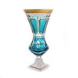 Хрустальная ваза для цветов Arnstadt АНТИК БИРЮЗА 32 см