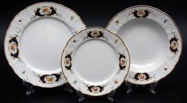 Набор тарелок для сервировки стола СИНИЙ ГЛАЗ Bernadotte 18 штук