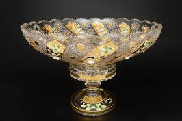 ХРУСТАЛЬ С ЗОЛОТОМ ваза для фруктов 40 см