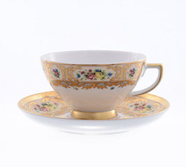 Набор для чая Falkenporzellan VIENNA CREME GOLD на 6 персон 12 предметов