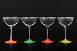 Набор бокалов для мартини АРЛЕКИНО НЕОН Bohemia Crystal 340 мл