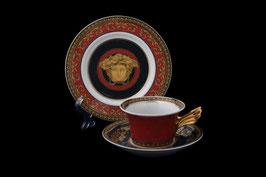 Немецкий фарфор.Чайная пара  Roshental МЕДУЗА КРАСНАЯ 2 предмета ( артикул Мн 8028 В )