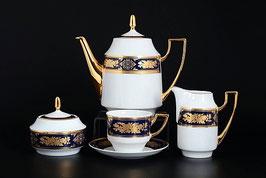 Чайный сервиз МАРИЯ ЛУИЗА ЧЕРНАЯ THUN на 6 персон 15 предметов