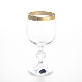 Набор бокалов для вина Bohemia Crystal КЛАУДИЯ ЗОЛОТАЯ ЛЕНТА 190 мл