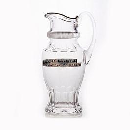 Кувшин  ДЖЕССИ ПЛАТИНОВЫЙ ОБОДОК Kvetna 1,4 литра