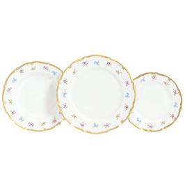 Набор тарелок для сервировки стола Queens Crown МЕЙСЕНСКИЙ ЦВЕТОК 18 штук