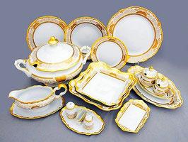 Немецкий столовый сервиз Weimar СИМФОНИЯ ЗОЛОТАЯ на 12 персон 49 предметов ( артикул МН 128 В )