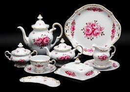 Немецкий чайный сервиз Weimar РОЗА Розовая на 6 персон 31 предмет ( артикул МН 10658 В )