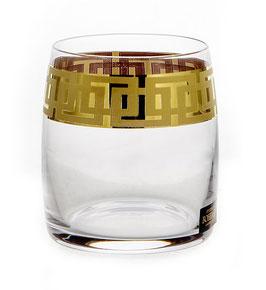 Набор стаканов для виски КЛАУДИЯ ГРЕЧЕСКИЙ УЗОР Bohemia Crystal 290 мл