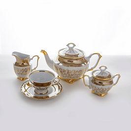 Чайный сервиз Bavaria ЛИСТ МЕДОВЫЙ на 6 персон 15 предметов