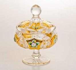ХРУСТАЛЬ С ЗОЛОТОМ ваза для конфет 13 см