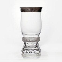 Набор стаканов  ДЖЕССИ ПЛАТИНОВЫЙ ОБОДОК Kvetna 330 мл
