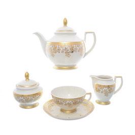 Чайный сервиз Falkenporzellan SOPHIE GOLD на 6 персон 15 предметов