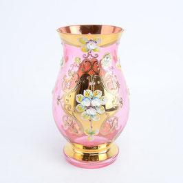 Ваза для цветов Bohemia Cristal ЛЕПКА СМАЛЬТА РОЗОВАЯ 22 см