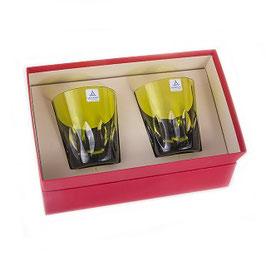 Набор хрустальных стаканов для виски Arnstadt ЗЕЛЕНЫЙ на 2 персоны