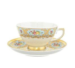 Набор для чая Falkenporzellan VIENNA BLUE GOLD на 6 персон 12 предметов