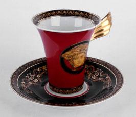 Немецкий фарфор.Кофейная пара  Roshental МЕДУЗА КРАСНАЯ 2 предмета ( артикул МН 8029 В )