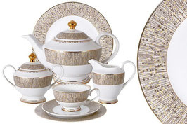 Чайный сервиз Midori ЛЮКСОР на 12 персон 42 предмета