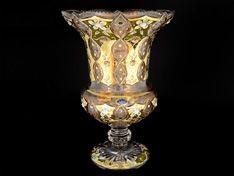 ХРУСТАЛЬ С ЗОЛОТОМ ваза для цветов 51 см