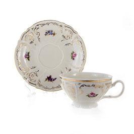 Набор для чая ПОЛЕВОЙ ЦВЕТОК Ивори  Bernadotte на 6 персон 12 предметов