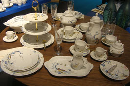 Немецкий чайный сервиз Rosenthal ШАМБРЕ СИНИЙ на 6 персон 21 предмет ( артикул МН 32646 В )