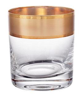 Набор стаканов для виски КЛАУДИЯ ЗОЛОТО  Bohemia Crystal 280 мл