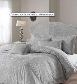 Постельное Белье VALERON SATIN с вышивкой 2 спальное LENORE серый