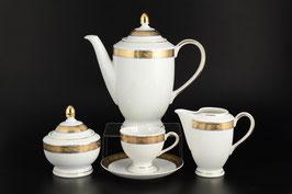 Кофейный сервиз ЯНА ЗОЛОТАЯ ЛЕНТА Thun на 6 персон 15 предметов