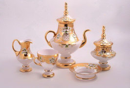 Чайный сервиз ЛЕПКА БЕЛАЯ на 6 персон 15 предметов