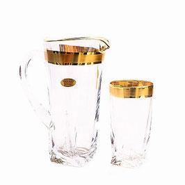 Набор для воды КВАДРО ГОЛД Bohemia Crystal 7 предметов