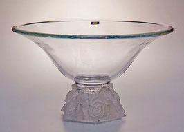Ваза для фруктов  ФРОСТ РОЗЫ ПРОЗРАЧНЫЕ Bohemia Crystal 35,5 см