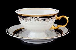 Набор для чая Thun СИНИЙ УЗОР на 6 персон 12 предметов