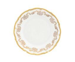 Набор закусочных тарелок Queens Crown ЗОЛОТОЙ ОРНАМЕНТ 21 см