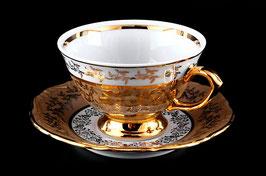 Набор для чая Bavaria ЛИСТ МЕДОВЫЙ на 6 персон 12 предметов