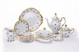 Немецкий чайный сервиз Weimar МЕЙСЕНСКИЙ ЦВЕТОК на 12 персон 54 предметов ( артикул МН 28145 В )