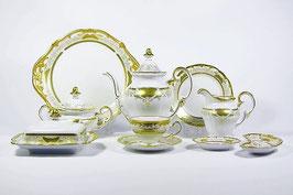 Немецкий чайный сервиз Weimar СИМФОНИЯ ЗОЛОТАЯ на 12 персон 54 предмета ( артикул МН 30237 В )