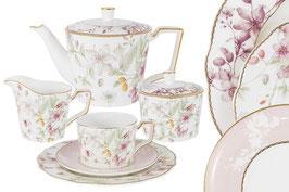 Чайный сервиз Emily ЦВЕТЫ на 6 персон 21 предмет
