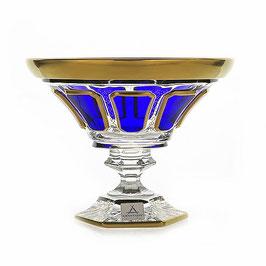 Хрустальная ваза для конфет Arnstadt АНТИК СИНИЙ 18 см