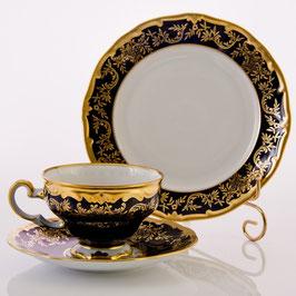 Десертный набор Weimar ЮВЕЛ СИНИЙ 3 предмета ( артикул МН 12590 В )