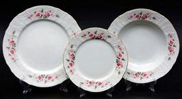 Набор тарелок для сервировки стола РОЗА СЕРАЯ Bernadotte 18 штук