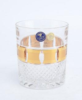 Набор хрустальных стаканов для виски Bohemia Cristal ЗОЛОТАЯ ПОЛОСА 320 мл
