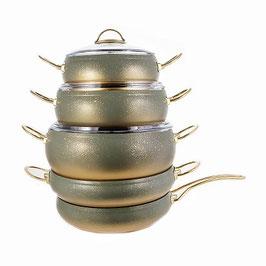 Набор кастрюль с крышками O.M.S. 9 предметов