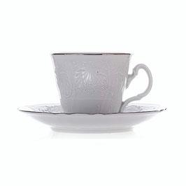 Набор для чая Bernadotte Платиновый Ободок на 6 персон 12 предметов