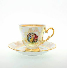 Набор для кофе МАДОННА ПЕРЛАМУТР Sterne Porcelan на 6 персон 12 предметов