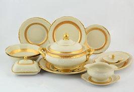 Столовый сервиз Sterne Porcelan МАТОВАЯ ПОЛОСА Ивори на 6 персон 27 предметов