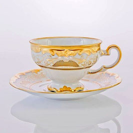 Набор для чая Weimar СИМФОНИЯ ЗОЛОТАЯ на 6 персон 12 предметов ( артикул МН 25179 В )
