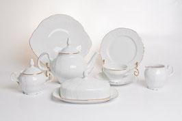 Чайный сервиз Bernadotte ЗОЛОТОЙ ОБОДОК на 12 персон 41 предмет