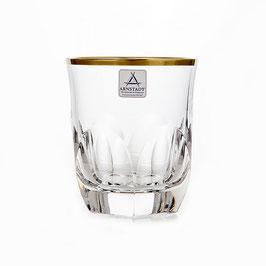 Немецкий Хрусталь ARNSTADT.  Набор стаканов для виски ПАЛАИС 250 мл ( артикул МН 28189 В )
