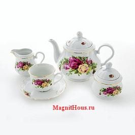 Чайный сервиз РОЗА  Thun на 6 персон 15 предметов